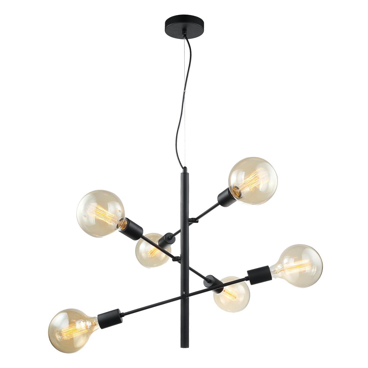Madalyn Lampa Wiszaca Czarna E27 Mdm3582 6 Bk Italux