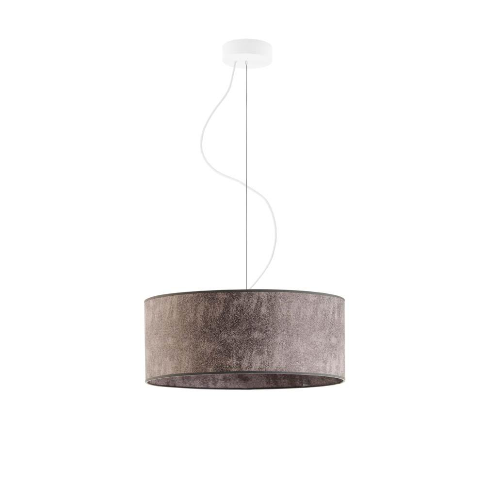 Hajfa 40cm lampa wisząca E27 abażur beton, stelaż (biały, czarny, chrom, stal szczotkowana, stare złoto)